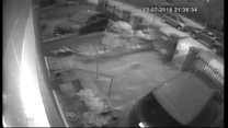 CCTV footage shows attack on Adams home