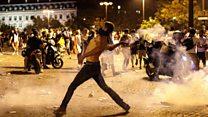 پیرس میں فٹبال ورلڈکپ جیتنے کا جشن پرتشدد جھڑپوں کی شکل اختیار کر گیا