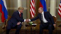 The moment Trump meets counterpart Putin