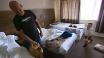 Family stuck in hotel weeks after flood