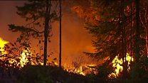 Wildfires rage in central Sweden