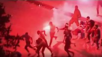 아수라장으로 변한 파리의 '월드컵 우승 기념 축제'