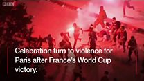 FIFA World Cup 2018: See as celebration turn to violence for France