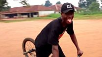 Nigerian man's joy over BMX sent in post