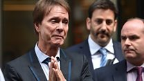 Emotional Sir Cliff speaks outside court