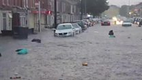 Heavy rain causes flash flooding in Northampton