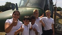 Lessons take off in helicopter classroom
