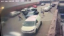 Moment woman and girl escape car-jacking