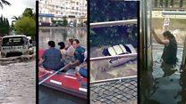 На юге России затопило города. Улицы превратились в реки