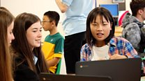Chinese pupils learn English in Wales