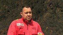 Second blaze scarring Welsh landscape