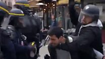 Watching 'Macron's aide' attack protesters