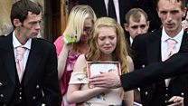 Mourners wear pink in Alesha's memory