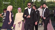 Sixty couples marry in mass nuptials