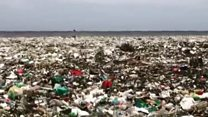 Wave of plastic hits beach