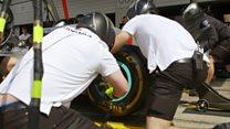مفك براغي سيارات فورمولا وان ينهي العمل في ثانيتين