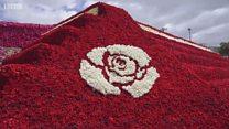 Najveća piramida od ruža