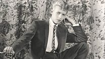 A clip of a 1963 recording, though to be the first, of a teenage David Bowie singing