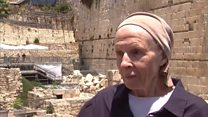 Western Wall stone narrowly misses woman