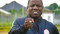 Nigerian coach filmed taking cash