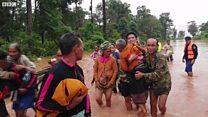 Lào: Vỡ đập thủy điện