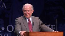Sessions repeats 'lock her up' chant