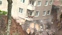 Building collapses after heavy rain