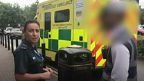 Ambulance hit with parking ticket