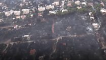Greece wildfires: Aerial view of destruction