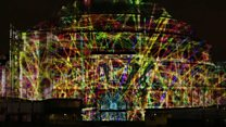 Lasers light up Royal Albert Hall