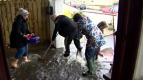 Family homes badly damaged by flooding