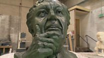 Sculpture reflects Doddy the 'thinker'