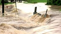 Torrential rain causes flooding in US city