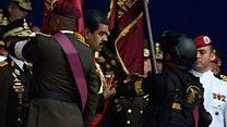 Venezuela lideri 'patlayıcı yüklü drone saldırısından kurtuldu'