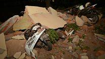 Fatal earthquake caught on camera