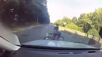 Driver's near-miss moment with cyclist