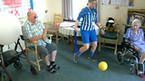 Care home residents armchair games