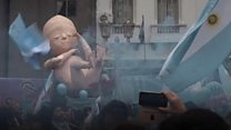 Clashes in Argentina over abortion bill