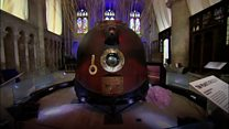 Peake's spacecraft on show at cathedral
