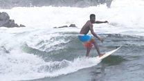 Loving Liberia's wild surf waves
