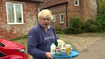 Johnson offers tea instead of answers
