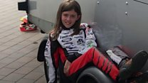 Ella, 11, likes racing karts because of the speed