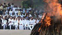 వాజ్పేయి: అంత్యక్రియల దృశ్యాలు