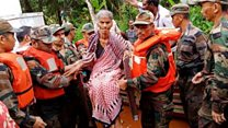 Rescue operation underway in India monsoon