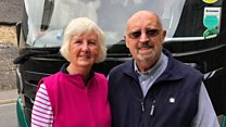 The couple celebrating 250 coach trips