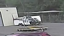 Helicopter crash caught on camera in Arkansas