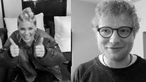 Pink and Ed Sheeran help DJ to propose