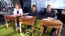 BBC presenters put to the test in GCSE exam