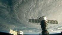 ISS pictures show hurricane heading to Hawaii