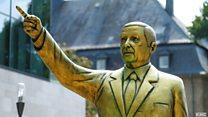 Almanya'da Erdoğan heykeli tartışma yarattı